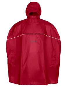 VAUDE Kids Grody Poncho indian red Größ S